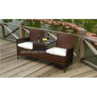 Wholesale Outside Patio Furniture Chairs 2 Seat With Cushion For Backyard / Lawn from china suppliers