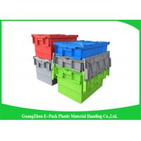 Wholesale Industrial Plastic Attached Lid Containers , 600*400mm Assorted Height from china suppliers