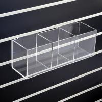 Buy cheap Wall Mounted Clear Slatwall Acrylic Display W/ 3 Boxes Perspex Bins from wholesalers