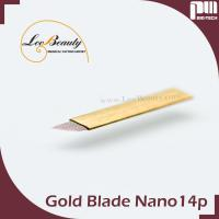 Wholesale 14 Pin Nano Super Thin Microblading Blades , Gold Hard PMU Eyebrow Tattoo Needle from china suppliers