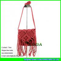 Wholesale LDMX-006 2016 fashion fasten tassel straw sling bag for kids from china suppliers