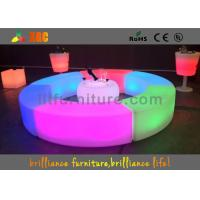 Wholesale PE LED Bar Stool / Bench Curved Durable For Outdoor / Indoor from china suppliers