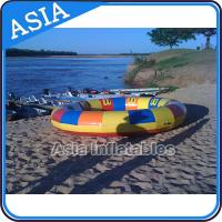 Wholesale Waterproof 10 Person Round / Disc Inflatable Disco Boat Hot Welding With Blowers from china suppliers