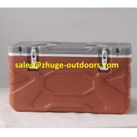 Wholesale Hot Sale 55 Liter PU Insulation Blue Plastic Ice Cooler Box from china suppliers