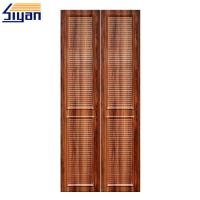 Wholesale High Density MDF Louvered Closet Doors Wood Grain With 860 Kgs/M³ Density from china suppliers