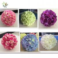 Wholesale UVG FHY01 40cm Artificial Flower Ball with Silk Hydrangea and Rose for Wedding Decoration from china suppliers
