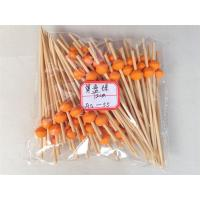 Wholesale 9 cm Bamboo Cocktail Sticks with Colorful Round Beads Art Fruit Cocktail Sticks Cake Decoration Wine Party Supplies from china suppliers