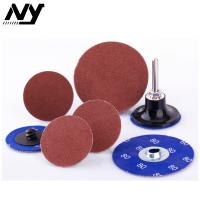 "Quality 2"" Quick Change Abrasive Discs For Wood , Orbital Glass Ceramic Type S Sanding for sale"