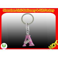 Wholesale OEM custom printed letter shaped metal key ring for souvenir gift from china suppliers