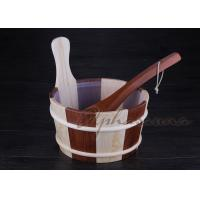 Wholesale Customized sauna water bucket 26*22*27CM , 39CM Pine handle from china suppliers