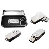 Wholesale promotional swivel stainless steel USB flash drive 8GB  from china suppliers