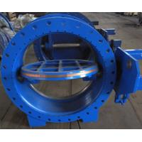China AWWA DN1000 Worm Gear Eccentric Butterfly Valve / Industrial Butterfly Valve Casting Iron Material on sale