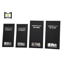 Quality 350 Gsm black card paper tempered glass packaging envelope silver foil printing for sale