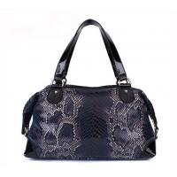 women serpentine pattern leather handbags SSL