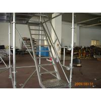 Wholesale Safe 800Kg / ㎡ Ladder Ring Lock scaffolding System / Steel Scaffold Tower from china suppliers