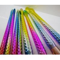 Wholesale Plastic Brush Sets Colorful Mermaid Brush With Makeup Brush Holder from china suppliers