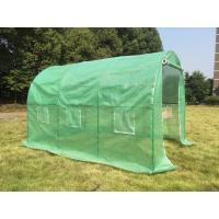 Wholesale Poylytunnel greenhouse with steel tube/PE greenhouse with green color/3X2X2polytunnel gree from china suppliers