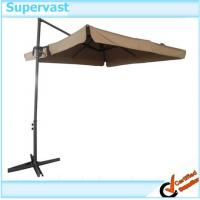 Wholesale Foldable Sunshade Offset Patio Umbrella 2.6M Steel Parasol Square Hanging Umbrella from china suppliers