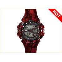 Wholesale Camo Printing Multifunction Digital Watches With Japan Battery CR2032 5ATM TPU Strap from china suppliers