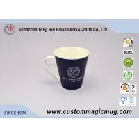 Wholesale White Porcelain Color Changing Mug V Shaped Mug Company Promotional Giveaways from china suppliers