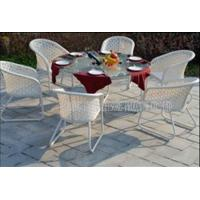 Quality Contemporary Garden Patio Furniture Dining Sets , Metal Patio Table And Chairs for sale