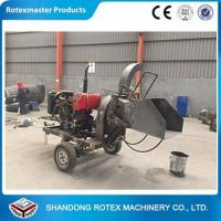 CE Approved Small Output Mobile Diesel Engine Wood Disc Chipper in Forest