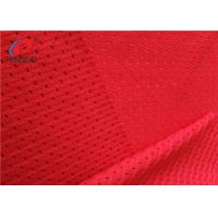 China Red Colour 100% Polyester Mesh Lining Fabric , Sports Mesh Fabric For Clothing on sale