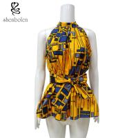 Wholesale Kitenge Fabric African Attire Print Tops Anti - Static Wear Confortable from china suppliers