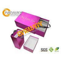 Wholesale Customized Paper Cardboard Shoe Boxes with Handle Full Color Printing from china suppliers