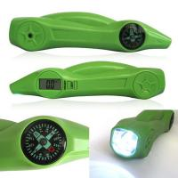 Wholesale Green ABS Digital Tire Pressure Gauge With Flashlight , Warning Light 5-150PSI from china suppliers