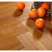 Quality slight brushed burma teak herringbone(fishbone)engineered wood flooring for sale