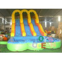 Wholesale New Arrive Inflatable Arch Bridge Water Slide Inflatable With Double Slide For Fun from china suppliers