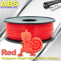 Wholesale Multi Color 1.75mm / 3mm ABS 3D Printer Filament Red With Good Elasticity from china suppliers