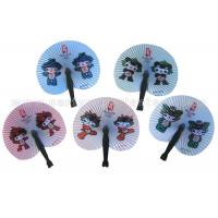 Wholesale Cartoon Style Printed Accordion Paper Folding Fan For Promotion , Gifts , Souvenir Cute from china suppliers