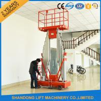 Wholesale 200kg Capacity 12m Height Hydraulic Aluminium Ladder Aerial Work Platform Lift With CE from china suppliers