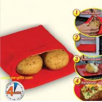 Wholesale NEW Red Washable Cooker Bag Baked Potato Microwave Cooking Potato Quick Fast cooks 4 potat from china suppliers