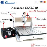 Wholesale USB 3 Axis CNC Router 6040 / 1.5KW Spindle 2.2KW Invert CNC Router Engraver Machine from china suppliers