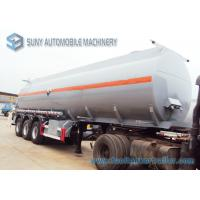 Wholesale Hydrochloric Acid FUWA 13 Ton Fuel Tanker Trailer Three Axle Trailers 32000L from china suppliers