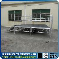 Buy cheap 4ft x 4ft industrial stage platform with aluminum adjustable stage legs from wholesalers