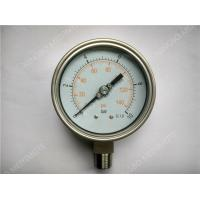 "Quality 4""(100mm) All Stainlee Steel Liquid Pressure Gauge with Welding Connector for sale"