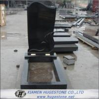 Wholesale Wings Carved Absolute Black Granite Tombstone, Shanxi Black Granite Monuments from china suppliers