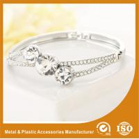 Wholesale Three Stones Shape Solid Silver Costume Jewellery Bangles Imitation Diamond from china suppliers