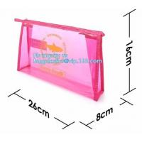 Wholesale grip slider bags, Stand Up Cosmetic Pouch with Slider Zipper Closure, PVC HEAT SEALED BAG WITH SLIDER ZIPPER from china suppliers