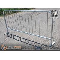 Wholesale Steel Crowd Control & Pedestrian Barriers with steel flat feet | 1.1X2.2m | AS4687-2007 from china suppliers