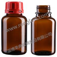 Quality 250ml amber chemical reagent glass bottle,wide mouth with tamper evidient cap for sale