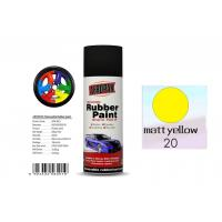 Wholesale Higher Adhesive Removable Rubber Spray Paint , Matt Yellow Color Auto Spray Paint from china suppliers