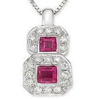 Wholesale Pendant(Pink Ruby & Diamond Pendant) from china suppliers