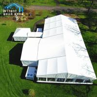 Wholesale Heavy Duty Custom Party Tents Glass Door Roof Pitch Without Pole Inside from china suppliers