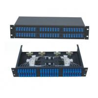 Wholesale 48 ports Rack-Mount  19'' 2U Fiber Optic Patch Panel for SC/UPC adapter terminal box black cold-roll steel sheet from china suppliers