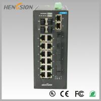 Wholesale Fast 28 Port Switch , Fanless Gigabit Switch 14 electric port + 4 FX +4 Gigabit SFP FX Fiber optical from china suppliers